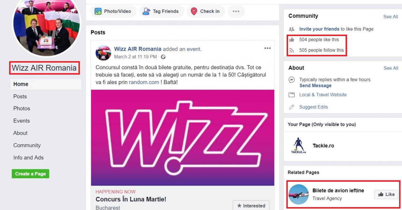 Tentativă de fraudă pe Facebook în numele Wizz Air