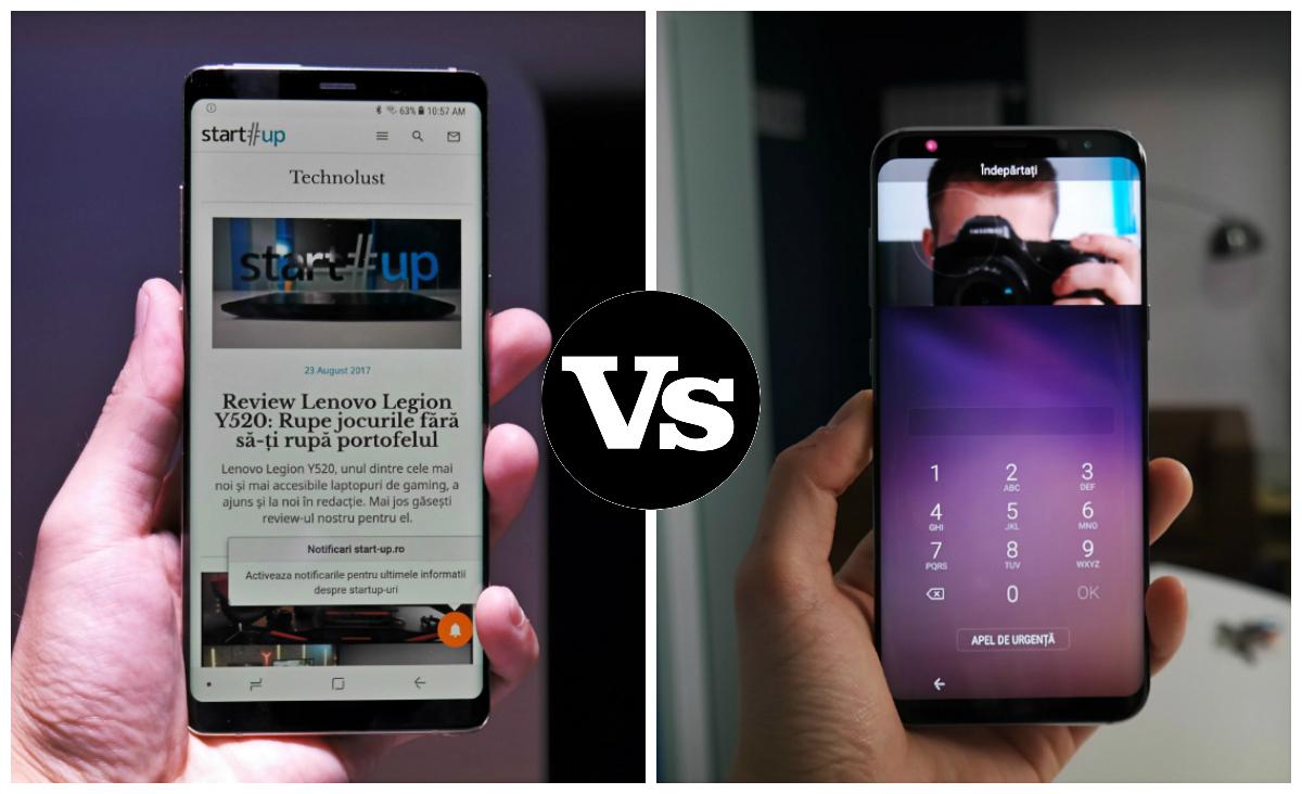 Samsung Galaxy Note 8 vs Galaxy S8+: Diferențele și ce să alegi