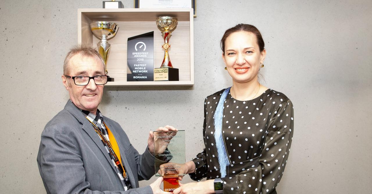 Orange, desemnată cea mai bună rețea din România