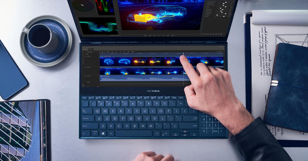 ASUS ZenBook Pro Duo: două ecrane pe un singur dispozitiv. Cât costă?