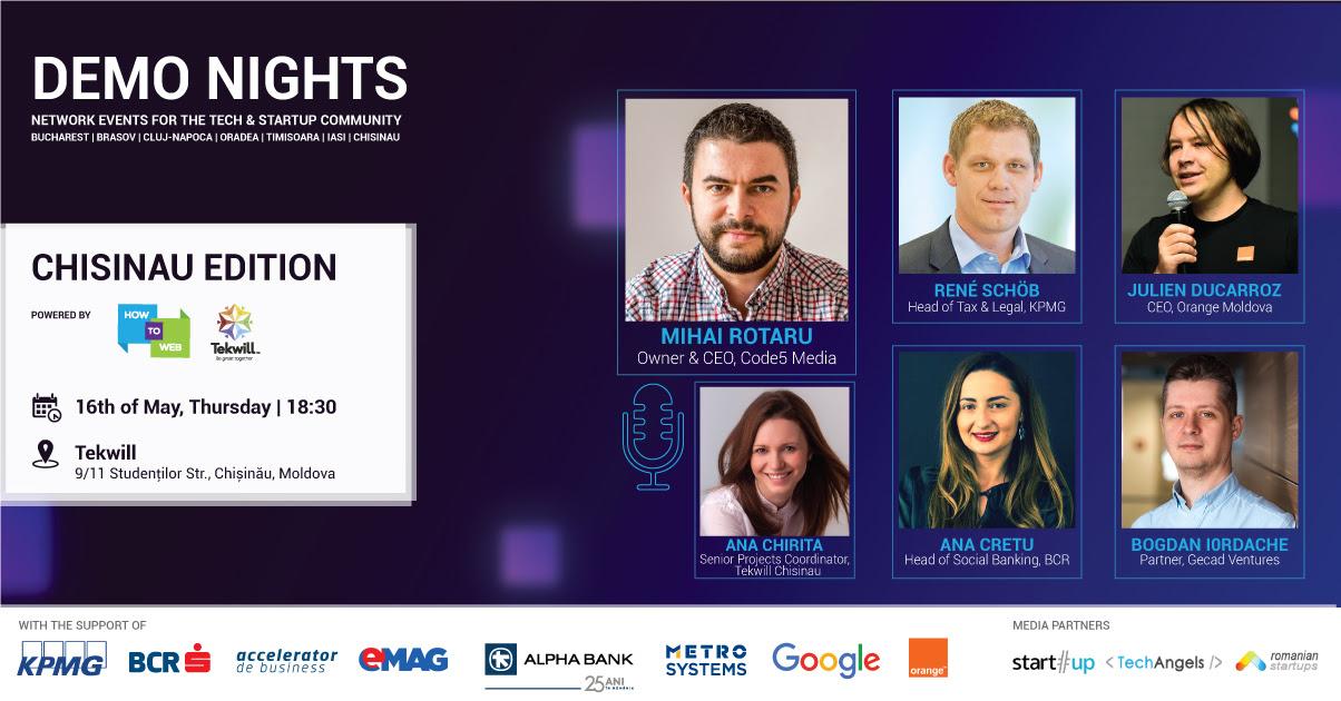 Demo Night la Chișinău: vino cu startup-ul la pitch și pleci cu bani