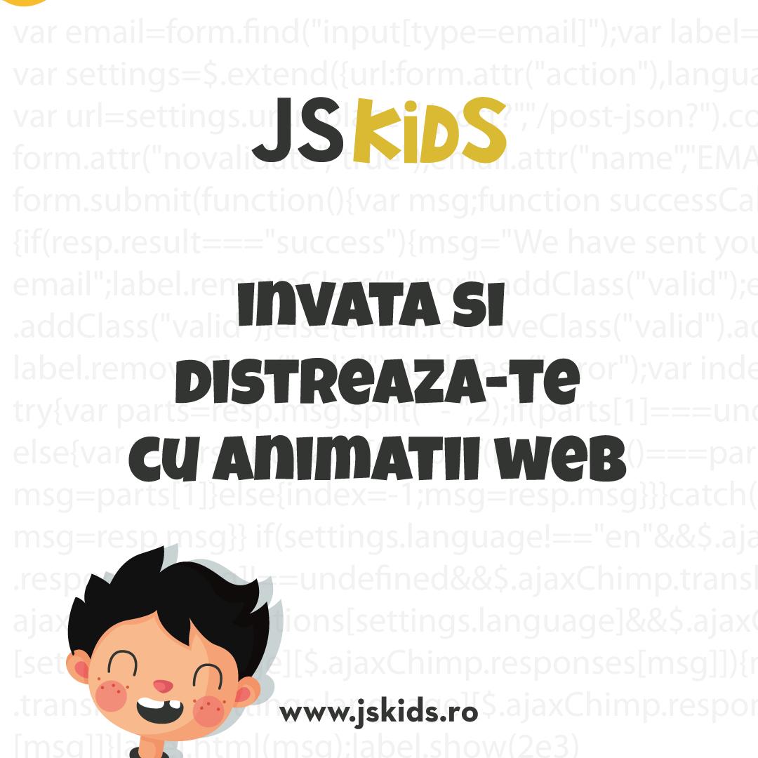 JSKids, cursurile online de programare pentru cei mici. Înscrieri deschise