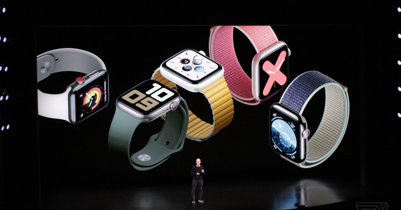 Apple anunță Apple Watch Series 5 cu always on display