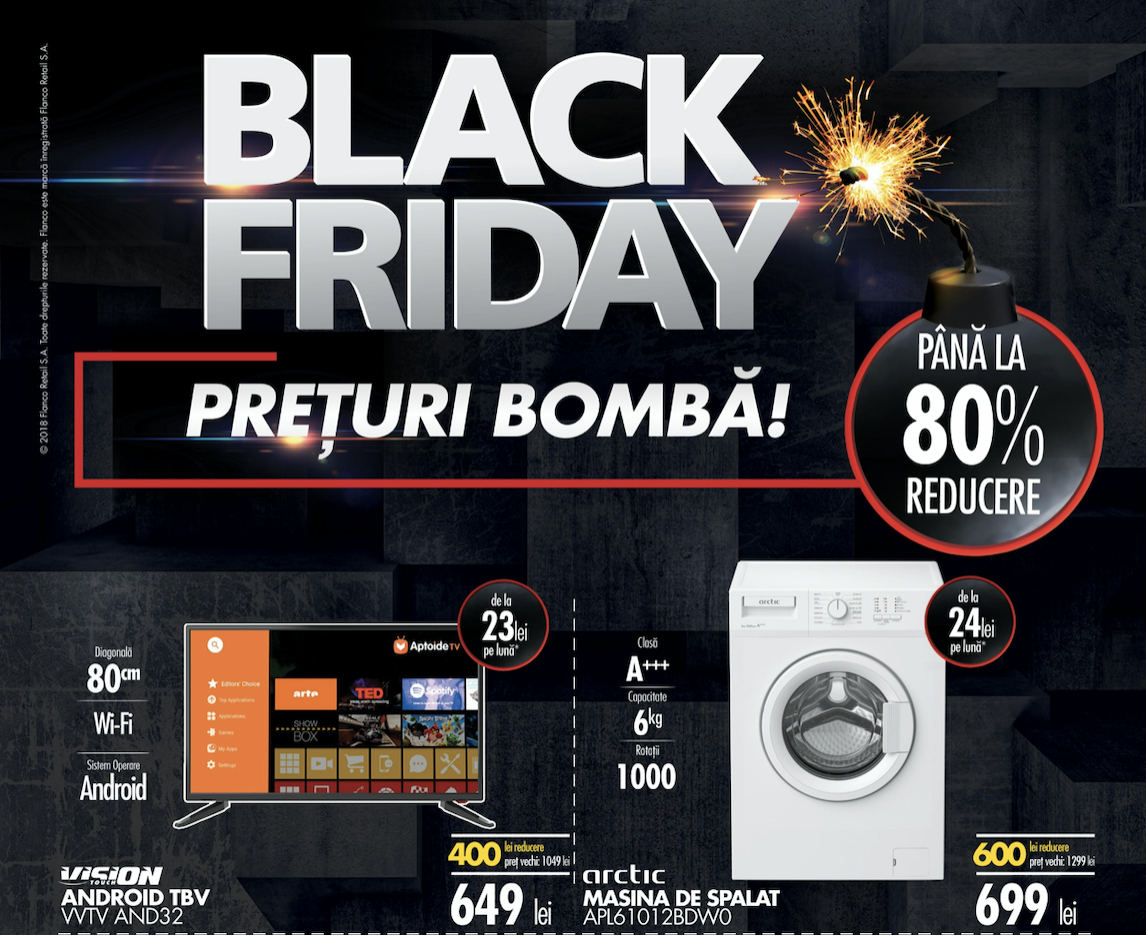 Black Friday 2018 Flanco - catalogul complet al reducerilor de weekend