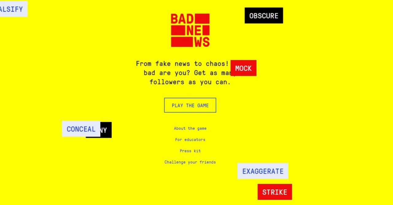 Fake News: Bad News, jocul care te transformă în propagandist
