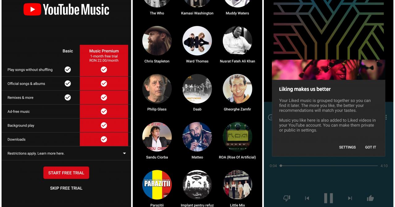 Youtube Music și Youtube Premium lansate în România