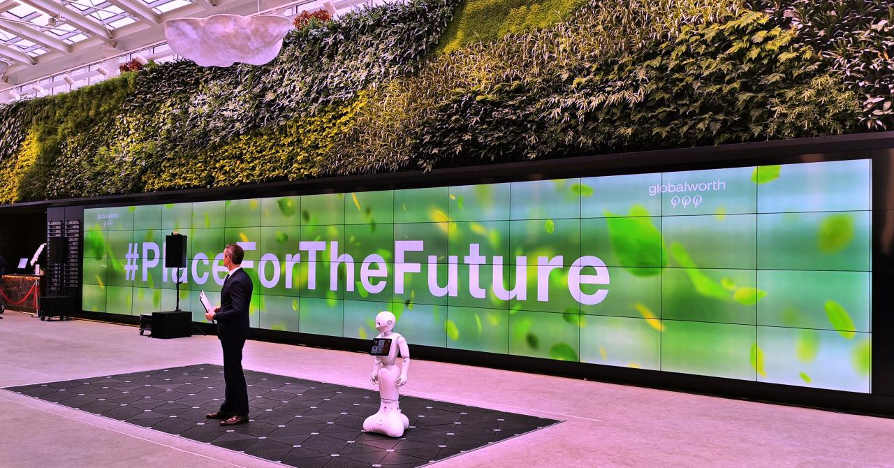 Pași în viitor: Globalworth inaugurează cel mai SF hol de clădire