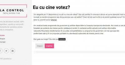Știi cu cine vei vota? lacontrol.ro îți spune cât de compatibil ești cu programele partidelor din România