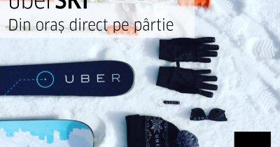 Uber lansează servicii pentru schiori la Brașov. Tarif fix către Poiana Brașov
