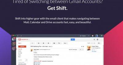 Aplicație de mail pentru Windows 10 - Shift conectează conturile tale de Gmail în afara browser-ului