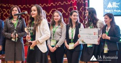 Tinerii din Toplița premiați drept compania anului la JA Hall of Fame