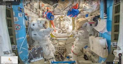 "Poți ""păși"" pe Stația Spațială Internațională prin Google Street View"