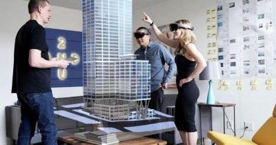 """La """"plimbare"""" cu HoloLens printr-o clădire a viitorului din București"""