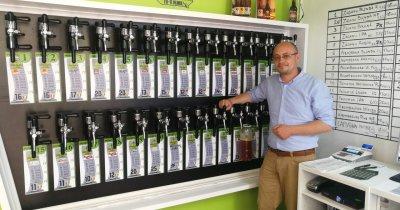 Stația Rombeer: magazinul unde îți faci plinul cu bere la PET