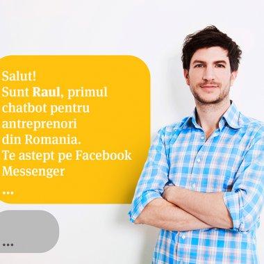 BT lansează chatbot pe mess și Skype pentru antreprenori: Robotul Raul