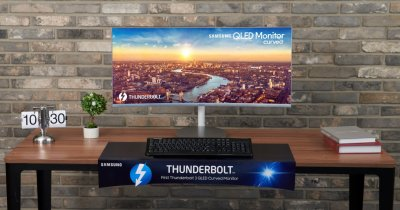 IFA 2018 - Samsung lansează monitorul curbat QLED Thunderbolt 3