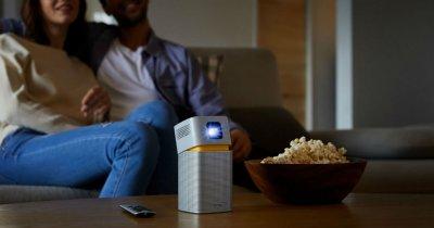 Cinema la purtător cu noul proiector LED WiFi BenQ GV1