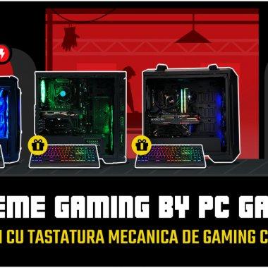 Tastatură mecanică gratuită la orice PC de gaming marca PC Garage