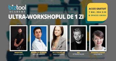 BizTool Academy, ultra-workshop gratuit: înscrieri până pe 3 mai