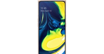 Samsung Galaxy A80 în România: cameră triplă rotativă pentru live-uri