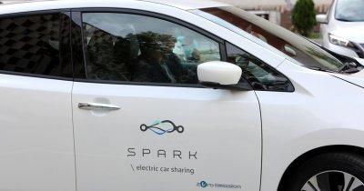 Spark, oficial în România. Preț de la 1,2 lei/min pentru e-car sharing