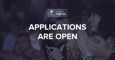 Aplicații deschise pentru startups la premiile Digital Top 50