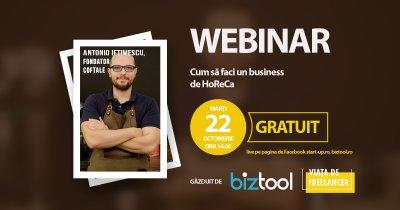 BizTool.ro, webinar gratuit: învață să construiești un business HoReCA