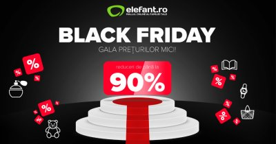 Black Friday 2019 la elefant.ro: reduceri de până la 90%