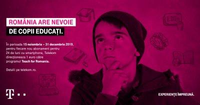 Cum poți să ajuți educația din România dacă iei abonament Telekom