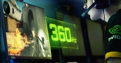 Nvidia și Asus lansează primul monitor cu o rată de refresh de 360 Hz