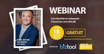 BizTool.ro, webinar gratuit: 5 lucruri despre cum deschizi un restaurant