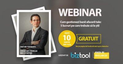 VIDEO BizTool.ro, webinar gratuit: cum gestionezi banii afacerii tale