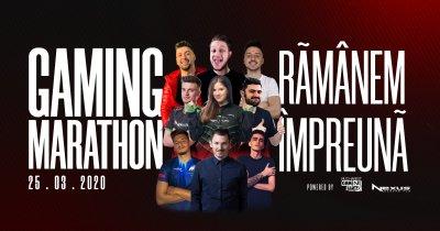 Gaming Marathon: 12 ore de gaming online alături de cei mai buni jucători români