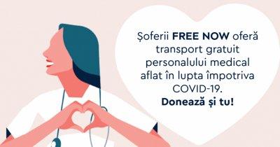 Coronavirus | FREE NOW, curse gratuite pentru personalul medical