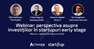 Webinar: perspectiva asupra investițiilor în startupuri în această perioadă