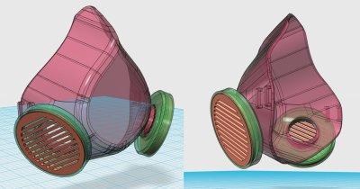 Coronavirus | Măști printate 3D gândite de români pe care ți le poți face acasă