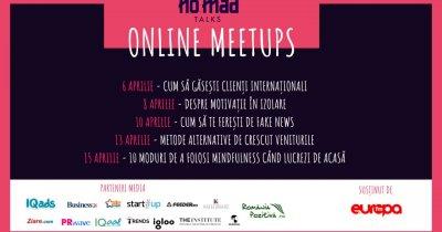NO.MAD Talks Online Meetups: temele următoarelor întâlniri pentru freelanceri