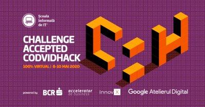 Acceleratorul BCR-InnovX susține hackathonul virtual CODVIDHack