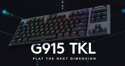 Logitech G lansează tastatura mecanică de gaming wireless G915 TKL