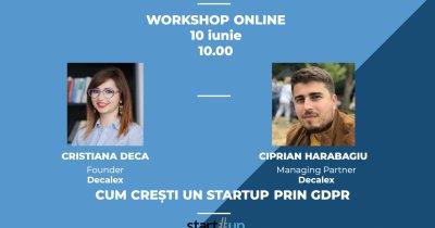 Workshop: Învață cum poți crește un startup folosind GDPR în beneficiul tău