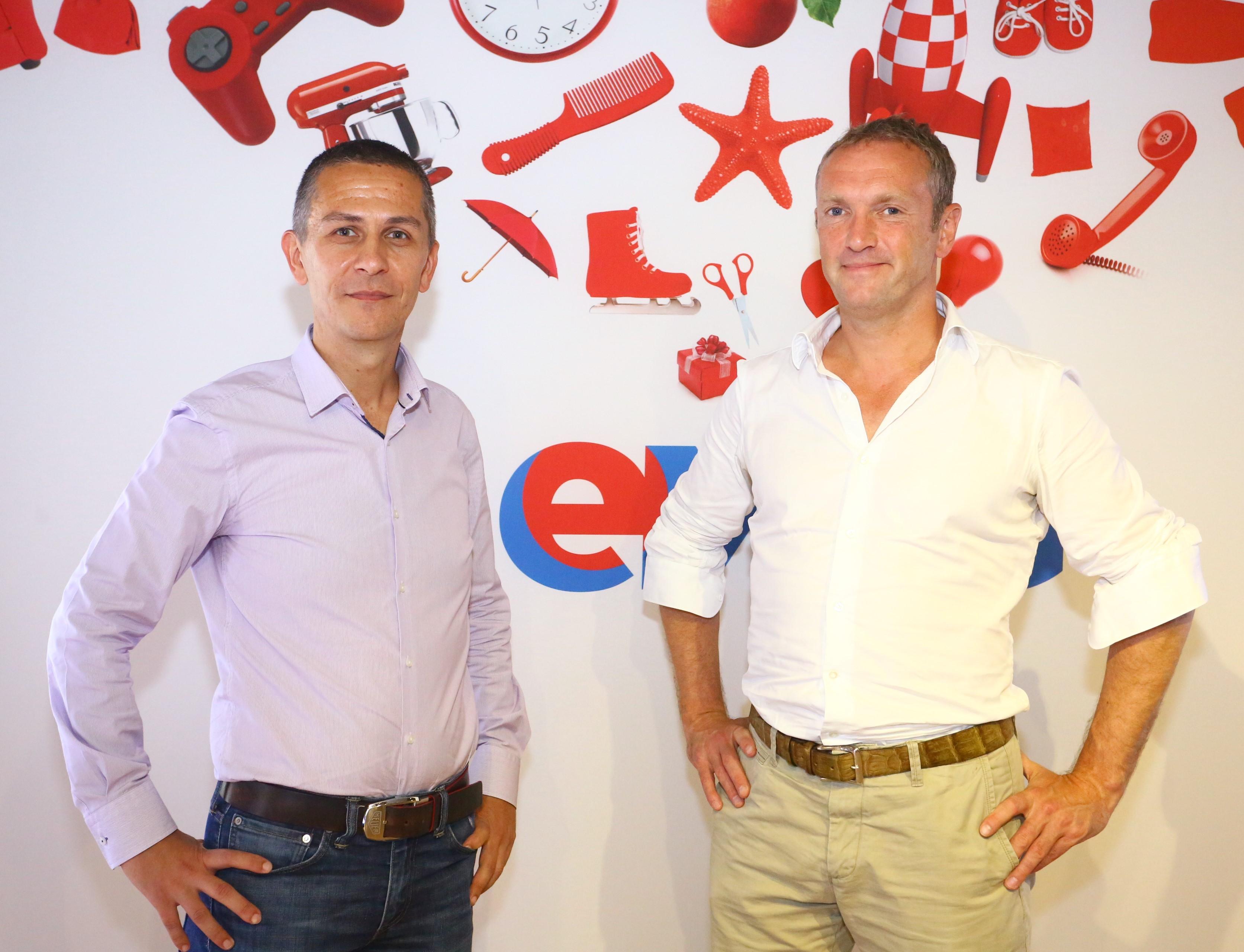 Iulian Stanciu CEO eMAG si Bob van Dijk CEO Naspers