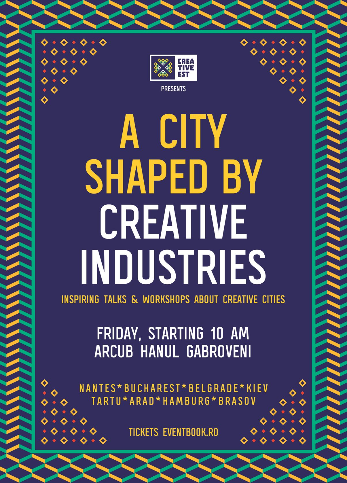 Poster A City Shaped by Creative Industries