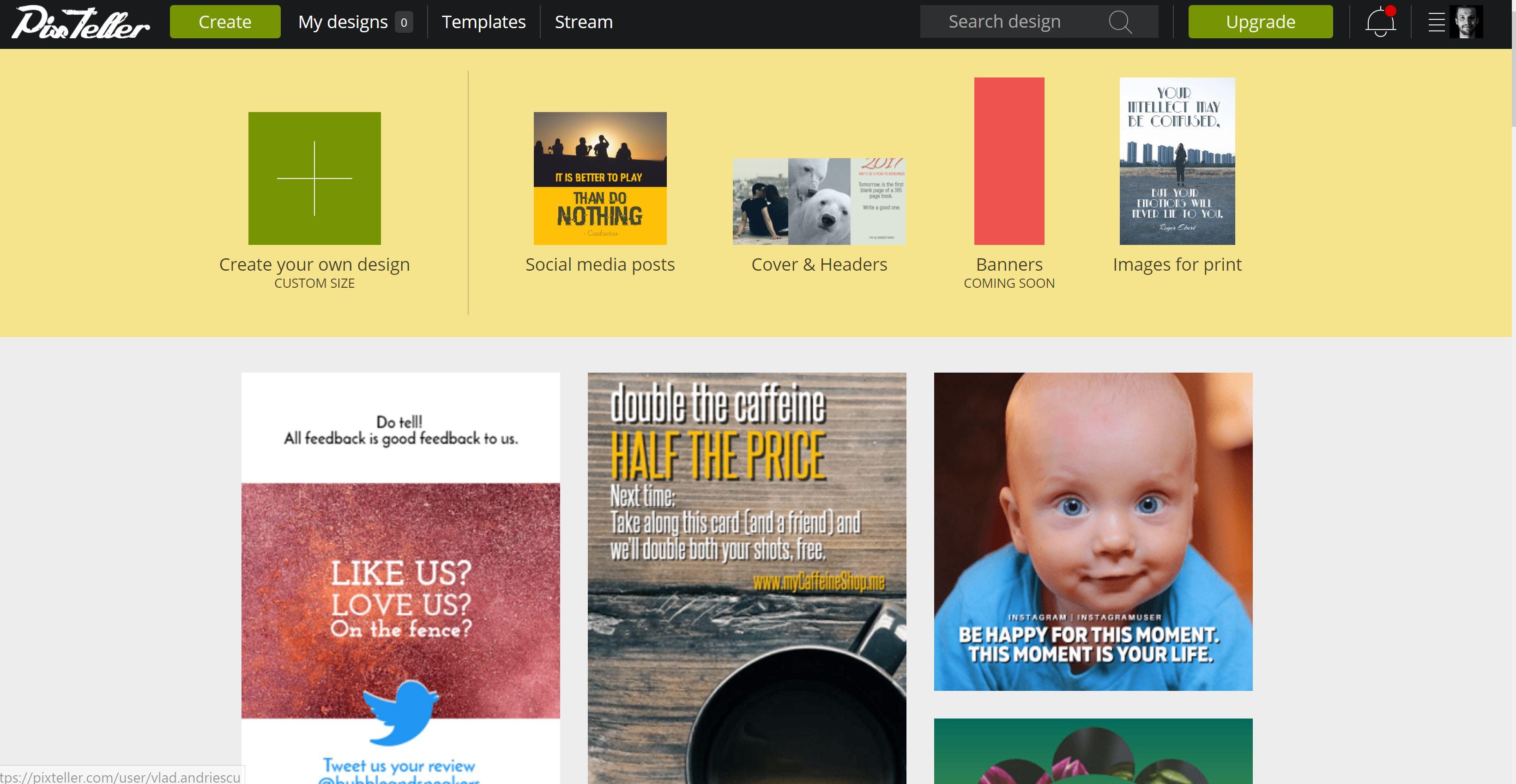pixteller alexandru roznovat design template internet