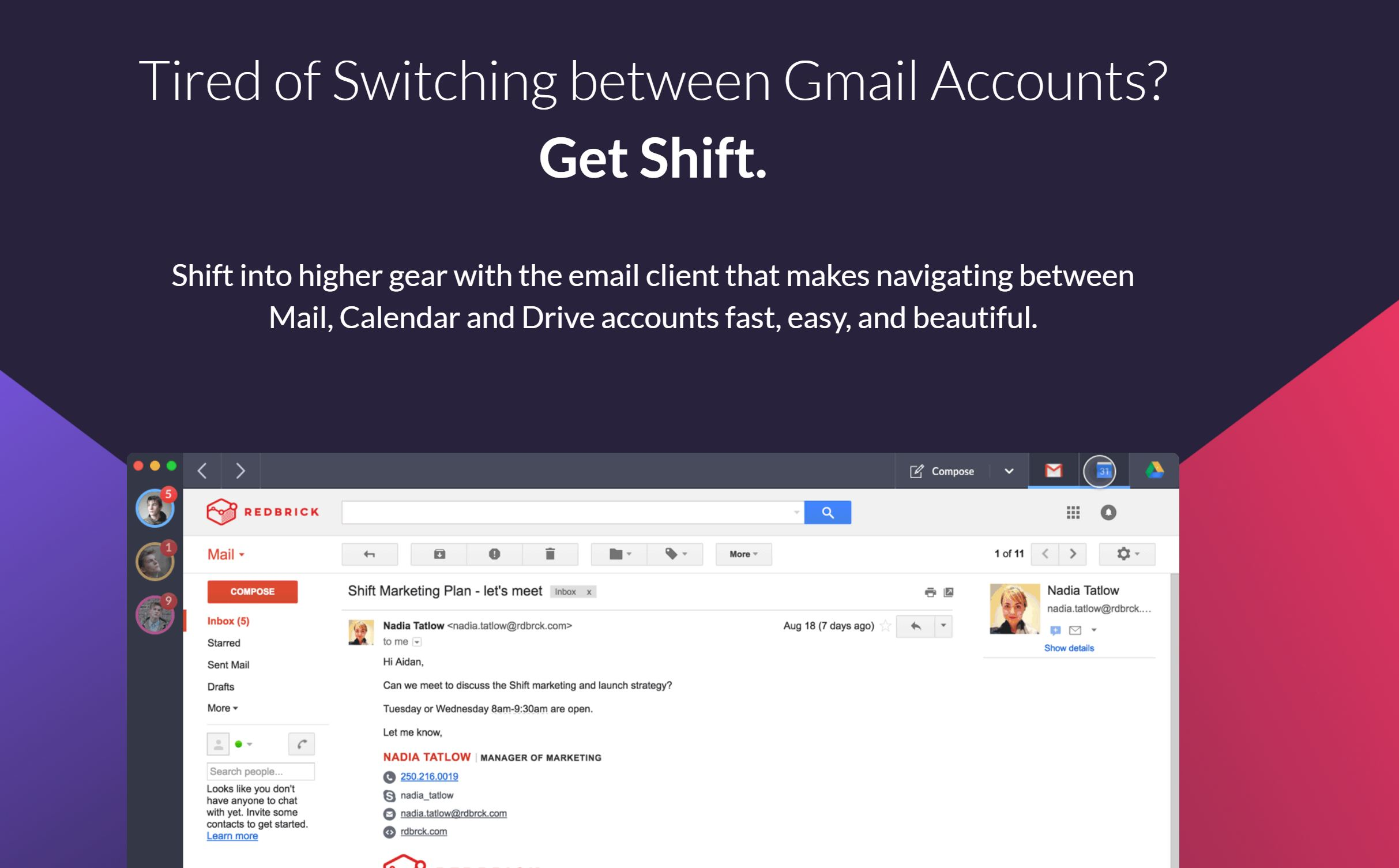 Shift for Windows aplicatie mail windows mac linux