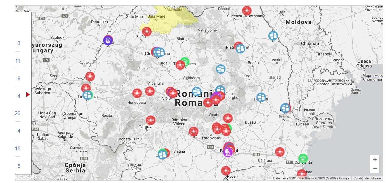 harta romania imm incubatoare startup gov