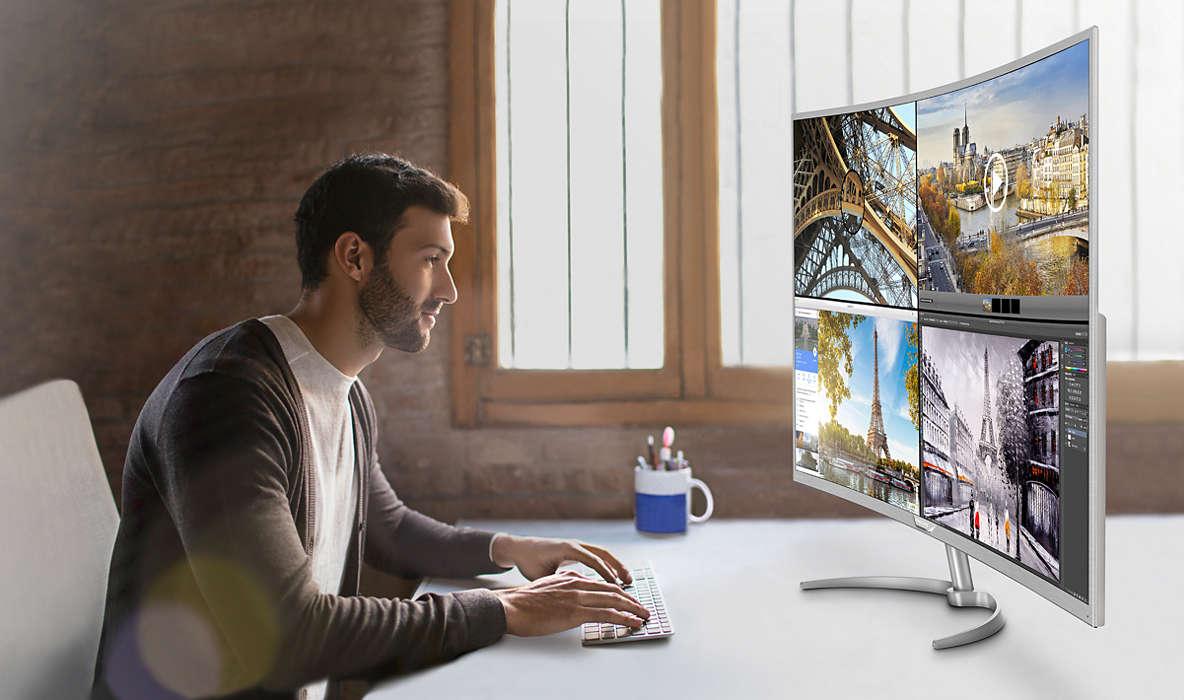 philips BDM4037UW monitor 4K curbat