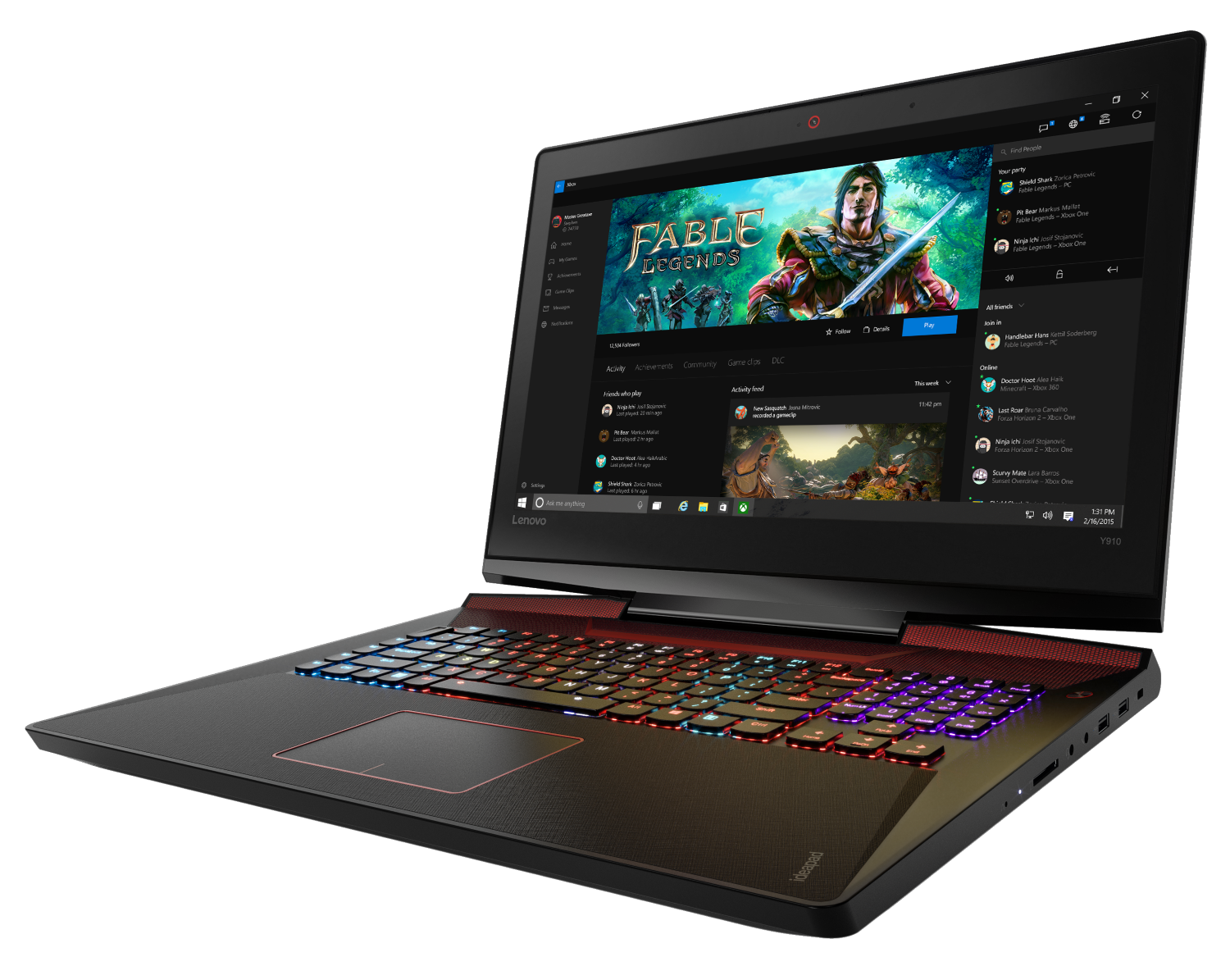 lenovo y laptop gaming