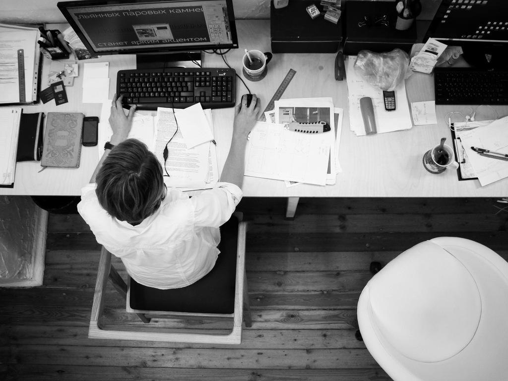 birou angajat tastatura corporatie scaun