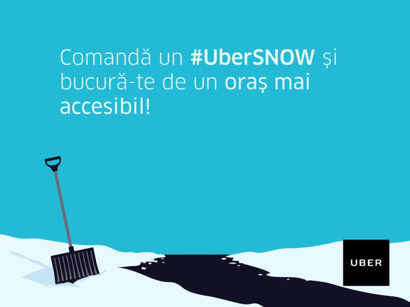 uber uber snow deszapezire la comanda