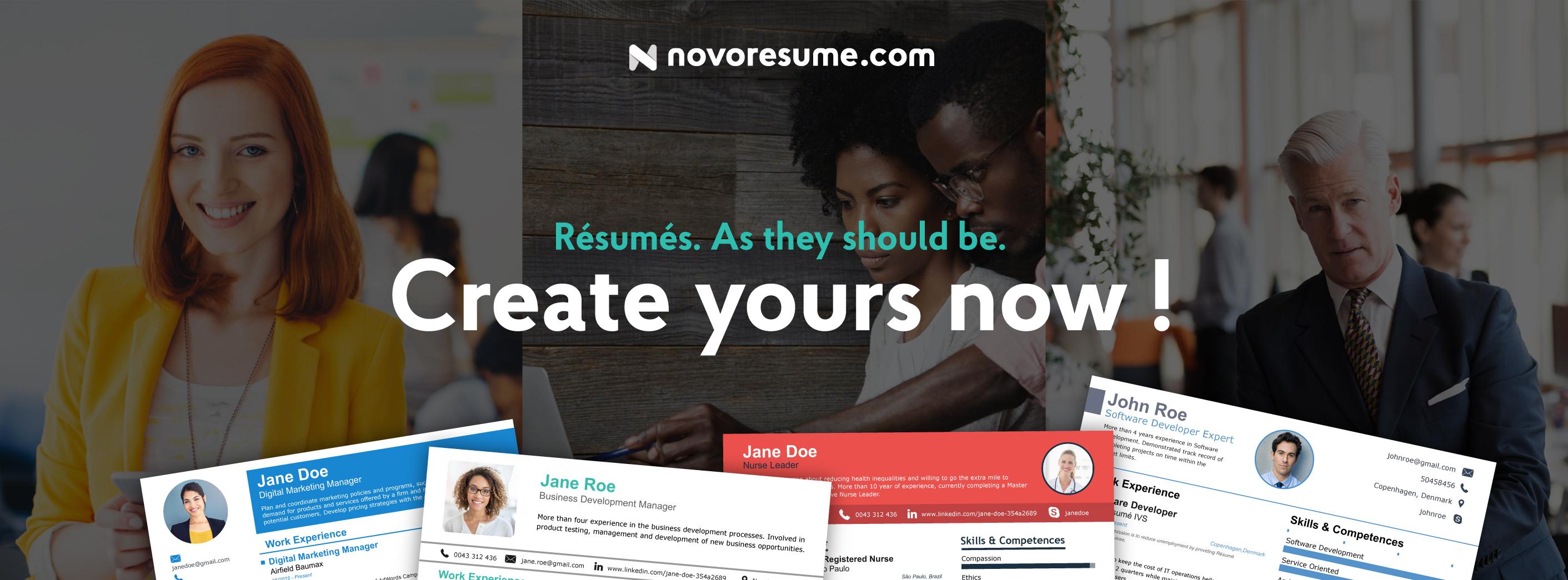 novoresume startup danemarca cv curriculum vitae